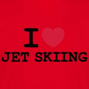 i love jet skiing 2 col premium hoodie - Men's T-Shirt