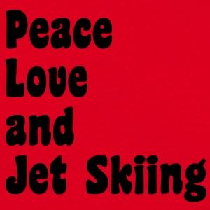 peace love and jet skiing premium hoodie - Men's T-Shirt