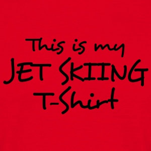 this is my jet skiing tshirt premium hoodie - Men's T-Shirt