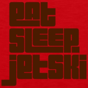 eat sleep jetski text premium hoodie - Men's Premium Tank Top