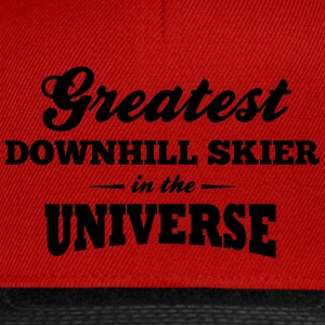 greatest downhill skier in the universe premium ho - Snapback Cap
