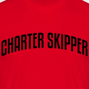 charter skipper stylish arched text logo premium h - Men's T-Shirt