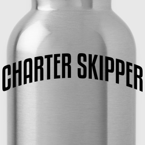 charter skipper stylish arched text logo premium h - Water Bottle