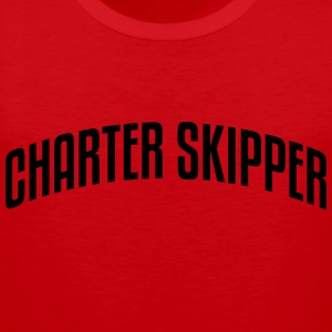 charter skipper stylish arched text logo premium h - Men's Premium Tank Top