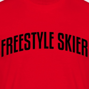 freestyle skier stylish arched text logo premium h - Men's T-Shirt