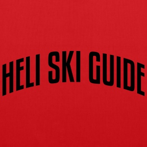 heli ski guide stylish arched text logo premium ho - Tote Bag