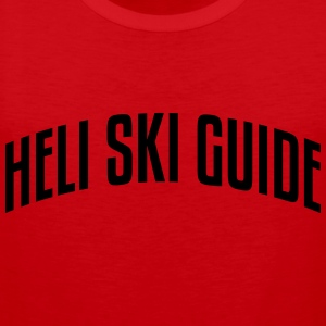heli ski guide stylish arched text logo premium ho - Men's Premium Tank Top