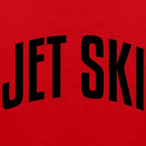 jet ski stylish arched text logo premium hoodie - Men's Premium Tank Top