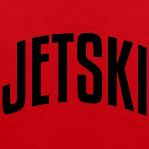 jetski stylish arched text logo premium hoodie - Men's Premium Tank Top