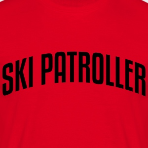 ski patroller stylish arched text logo c premium h - Men's T-Shirt