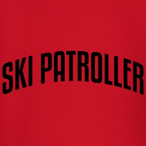 ski patroller stylish arched text logo c premium h - Baby Long Sleeve T-Shirt