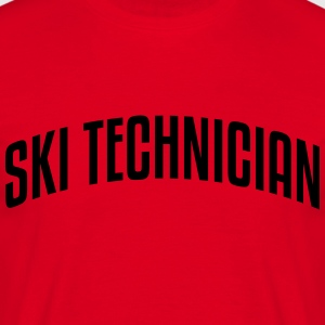 ski technician stylish arched text logo  premium h - Men's T-Shirt
