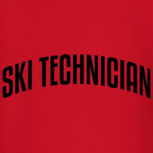 ski technician stylish arched text logo  premium h - Baby Long Sleeve T-Shirt