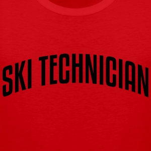 ski technician stylish arched text logo  premium h - Men's Premium Tank Top