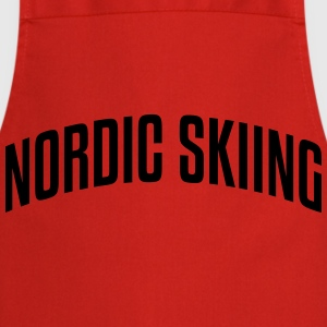 nordic skiing stylish arched text logo c premium h - Cooking Apron