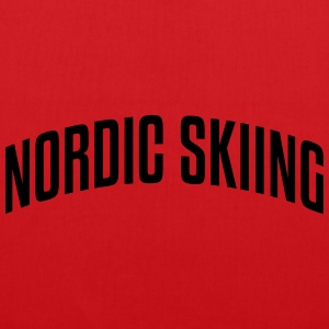 nordic skiing stylish arched text logo c premium h - Tote Bag