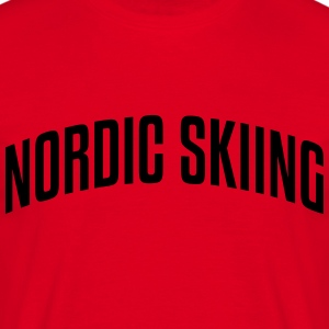nordic skiing stylish arched text logo c premium h - Men's T-Shirt