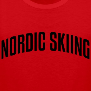 nordic skiing stylish arched text logo c premium h - Men's Premium Tank Top