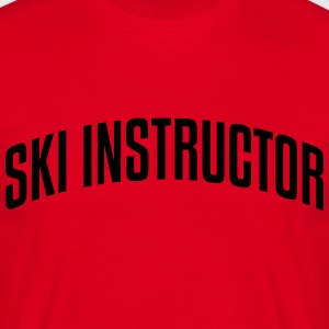 ski instructor stylish arched text logo  premium h - Men's T-Shirt