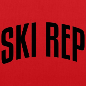 ski rep stylish arched text logo premium hoodie - Tote Bag