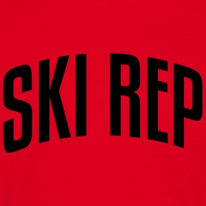 ski rep stylish arched text logo premium hoodie - Men's T-Shirt