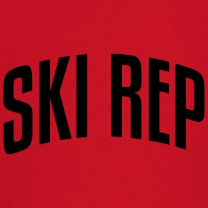 ski rep stylish arched text logo premium hoodie - Baby Long Sleeve T-Shirt