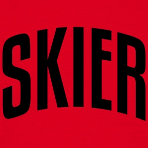 skier stylish arched text logo premium hoodie - Men's T-Shirt