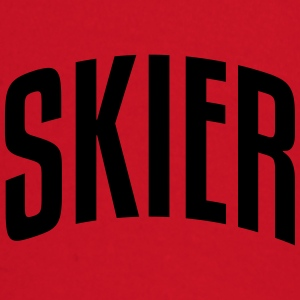 skier stylish arched text logo premium hoodie - Baby Long Sleeve T-Shirt