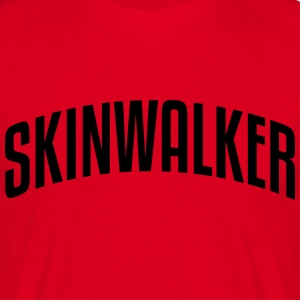 skinwalker stylish arched text logo premium hoodie - Men's T-Shirt