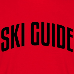 ski guide stylish arched text logo premium hoodie - Men's T-Shirt