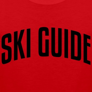 ski guide stylish arched text logo premium hoodie - Men's Premium Tank Top