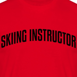skiing instructor stylish arched text lo premium h - Men's T-Shirt