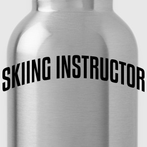 skiing instructor stylish arched text lo premium h - Water Bottle