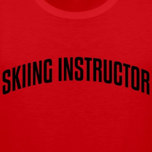 skiing instructor stylish arched text lo premium h - Men's Premium Tank Top