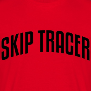 skip tracer stylish arched text logo cop premium h - Men's T-Shirt