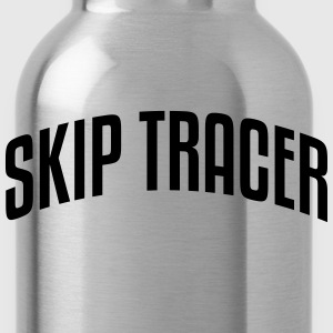 skip tracer stylish arched text logo cop premium h - Water Bottle