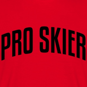 pro skier stylish arched text logo premium hoodie - Men's T-Shirt