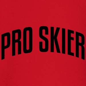 pro skier stylish arched text logo premium hoodie - Baby Long Sleeve T-Shirt