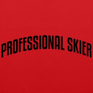 professional skier stylish arched text l premium h - Tote Bag