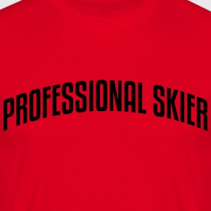 professional skier stylish arched text l premium h - Men's T-Shirt