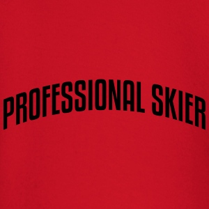 professional skier stylish arched text l premium h - Baby Long Sleeve T-Shirt