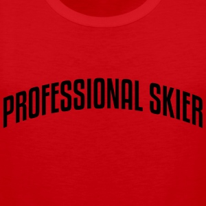 professional skier stylish arched text l premium h - Men's Premium Tank Top