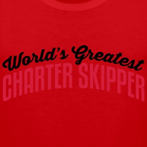 worlds greatest charter skipper 2col cop premium h - Men's Premium Tank Top