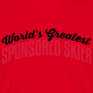 worlds greatest sponsored skier 2col cop premium h - Men's T-Shirt