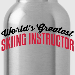 worlds greatest skiing instructor 2col c premium h - Water Bottle
