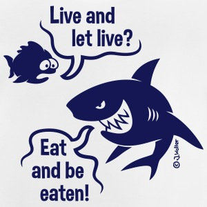 Cartoon: Live And Let Live (1C) Shirts - Baby T-Shirt