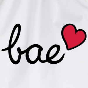 Bae & red heart - Drawstring Bag