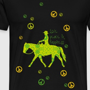 Love, Peace, Happiness Langarmshirts - Männer Premium T-Shirt