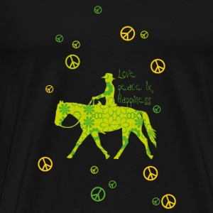 Love, Peace, Happiness Bamser - Premium T-skjorte for menn