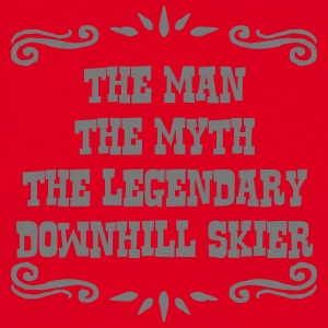freestyle skier the man myth legendary l premium h - Men's T-Shirt